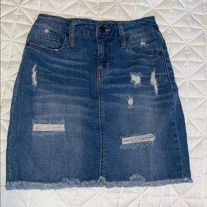 Stretchy Denim Skirt